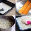 Để làm bánh củ năng, trước tiên ngâm bột năng với 150ml nước khoảng 10 phút. Dừa lấy nước. Cho đường thốt nốt vào nước dừa, cho lên bếp nấu cho lửa nhỏ, khuấy đều cho đường tan. Có thể chia nhỏ đường thốt nốt để đun mau tan. Củ năng gọt vỏ, ngâm với nước muối pha loãng, rửa sạch, cắt hạt lựu nhỏ. Cho củ năng vào nước dừa đun sôi, khuấy đều. Thêm 250ml nước vào bột năng, khuấy đều. Cho từ từ nước đường, dừa vừa đun sôi vào bột, khuấy đều cho hòa trộn đến khi bột trở đục, đều.