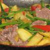Khoai xào thịt bò, cần tây