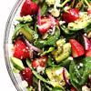 Salad bơ dâu rau bina mang đến một vị ngon khó cưỡng lại nhờ vạo dâu chua ngọt, bơ beo béo kết hợp cùng rau bina xanh mát và nước sốt ngon ngon, không hề gây ngán đâu nhé. Nhanh tay lưu lại ngay công thức và làm ăn nhé.