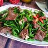 Thịt bò xào rau muống