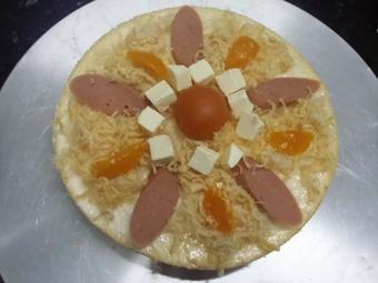 Bánh bông lan phủ trứng muối phô mai