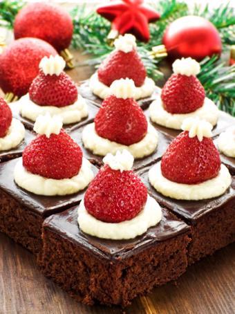 Bánh brownie ông già Noel
