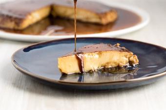 Bánh flan dừa