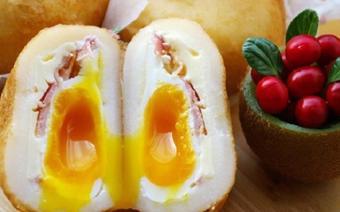 Bánh khoai tây bọc trứng