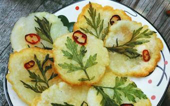 Bánh khoai tây chiên hình hoa lá