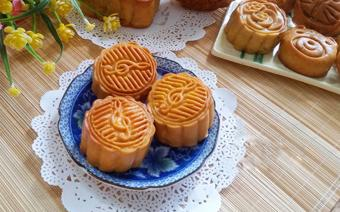 Bánh nướng trung thu nhân sữa dừa