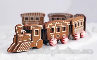Bánh quy gừng hình đoàn tàu