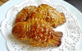 Bánh trung thu nướng hình con cá