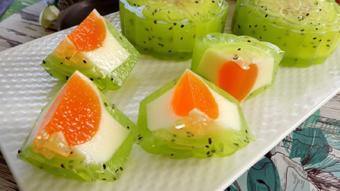 Bánh trung thu thạch phô mai kiwi
