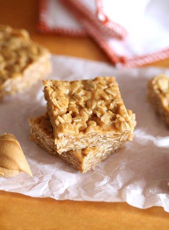 Bánh yến mạch bơ đậu phộng không dùng lò nướng