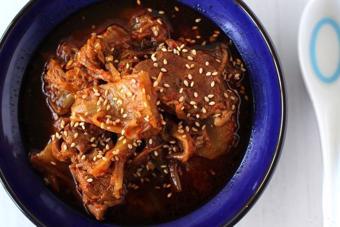 Bò hầm kim chi