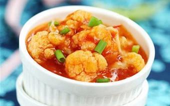 Bông cải trắng sốt cà chua