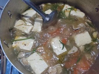 Bún chay đậu hủ và nấm