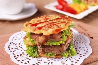 Burger bò không cần lò nướng