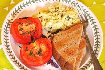 Cà chua nướng bơ bằng lò