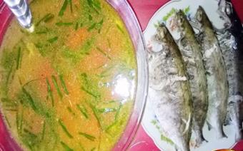 Canh cá kình nấu thơm