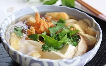 Canh đậu hũ nấu nấm