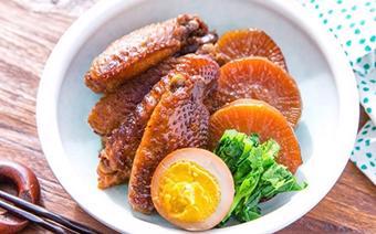 Cánh gà om củ cải