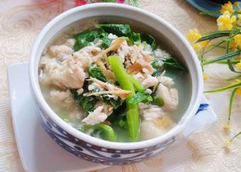 Canh rau cải cá rô phi