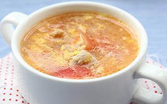 Canh trứng gà cà chua