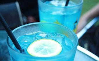 Cocktail Blue Fizz