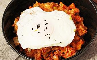 Cơm chiên kimchi cay ngon