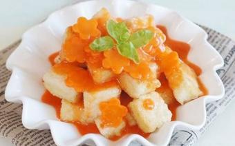Đậu hũ sốt cà rốt