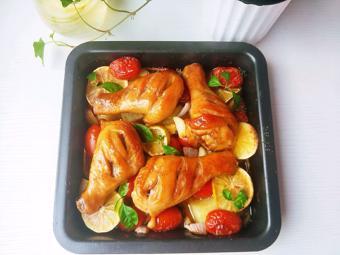 Gà nướng rau củ đơn giản