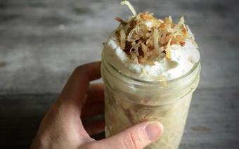 Kem cà phê dừa nạo