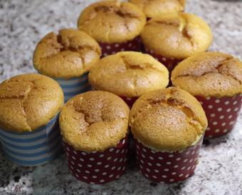 Muffin táo tươi cắt lát