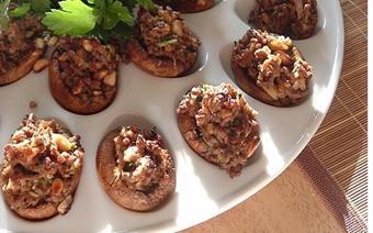 Nấm nhồi thịt nướng