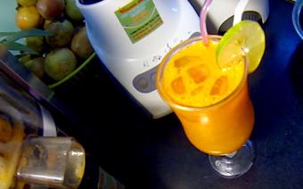 Nước ép cà rốt mix chanh dây