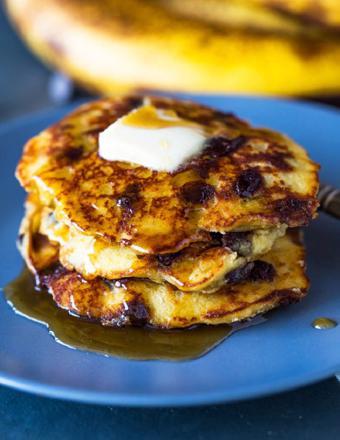 Pancake chuối hạnh nhân