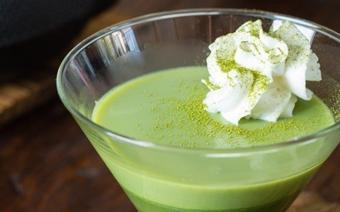 Pudding trà xanh mát rượi