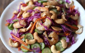 Salad bắp cải tím hạt điều