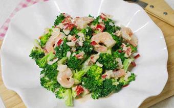 Salad bông cải trộn tôm