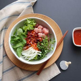 Salad cá ngừ trộn rau cải