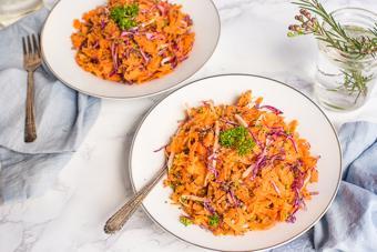 Salad cà rốt bắp cải tím
