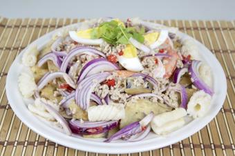Salad cà tím tôm thịt