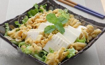Salad đậu hũ xà lách