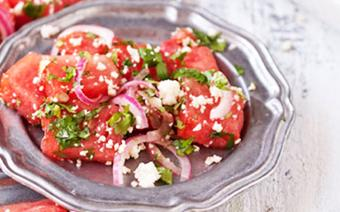 Salad dưa hấu nướng