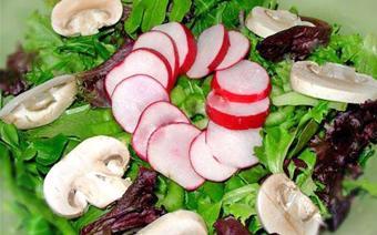 Salad nấm với củ cải