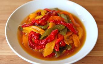 Salad ớt chuông nướng ngon