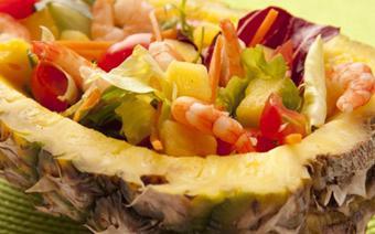 Salad tôm thơm