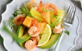 Salad tôm trái cây