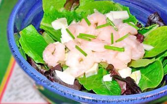 Salad trứng tôm