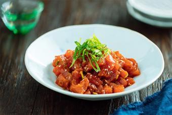 Sashimi cá ngừ cay