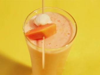 Sinh tố chuối đu đủ sữa chua