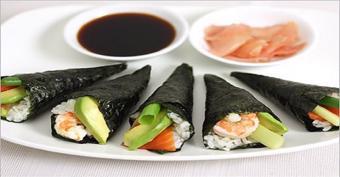 Sushi cuộn tay - Temakizushi)