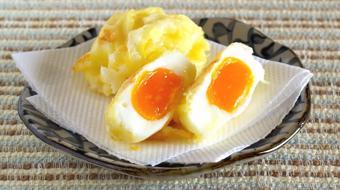 Tempura trứng gà